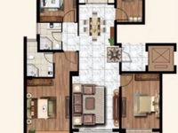 天怡九龙苑6楼127平4室2厅2卫毛坯改合同106.8万